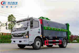 国六东风3800轴距侧装挂桶压缩垃圾车